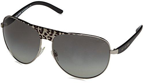 MICHAEL KORS Sunglasses MK 1006 105911 Black Silver Leopard/Black - Michael Kors Sunglasses Leopard