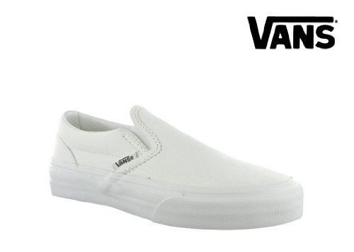 (Vans Youth Classic Slip-On Core, White-1)