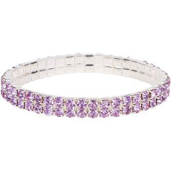 (Double Tier Swarovski Element Stretch Lavender Crystal)