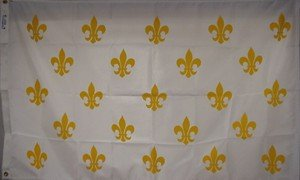 French Fleur -De-Lis  Flag Nylon 3 ft. x 5 ft.