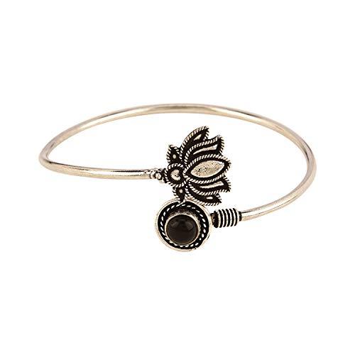 Black Bangles Diamond Vintage (Efulgenz Boho Vintage Antique Ethnic Gypsy Tribal Indian Oxidized Silver Cuff Adjustable Bracelet Bangle Jewelry)