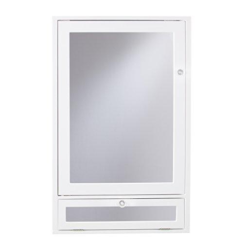 Furniture HotSpot Corner Medicine Cabinet with Storage - White - 21.75