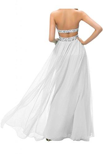 Toscana dibujos Rueckenfrei por la noche vestidos de novia de la gasa de la bola de la dama de honor de largo Prom vestidos de fiesta dorado