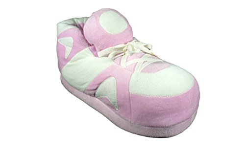 and and Happy Go Slippers Feet Pink White Happy Pink White Slippers Feet Go fBH4qztwx