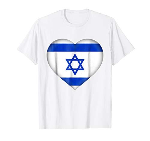 I Love Israel T-Shirt | Israeli Flag Heart Outfit