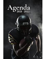 Agenda Scolaire 2021 2022: Football américain   Semainier au format A5 pour les étudiants, professionnels et particuliers - Août 2021 à Juillet 2022