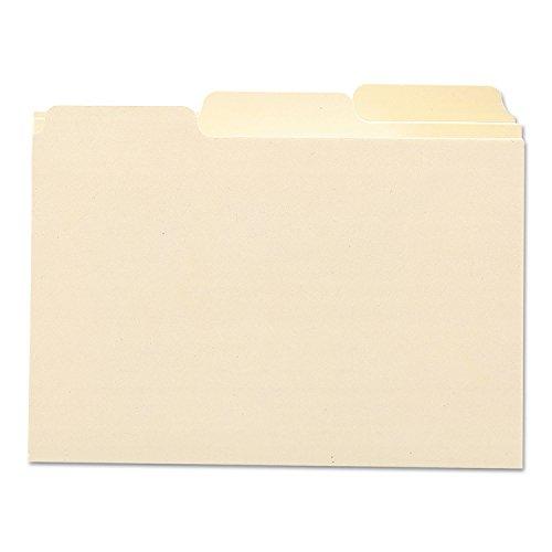 Smead 55030 Self-Tab Card Guides 1/3 Tab Manila 5 x 3 100/Box