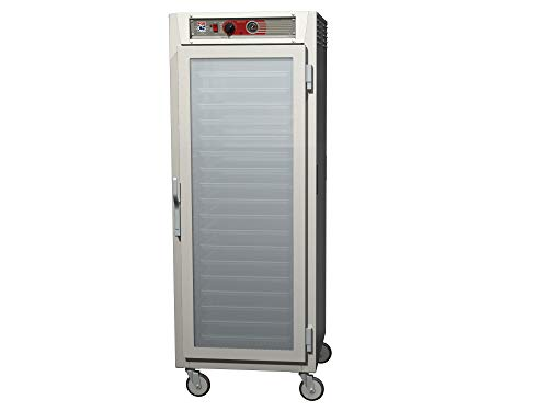 - Metro C569X-SFC-UPFS C5 6 Series Pass-Thru Heated Holding Cabinet, Full Height, Stainless Steel, Full Length Clear Door/Full Length Solid Door, Universal Wire Slides