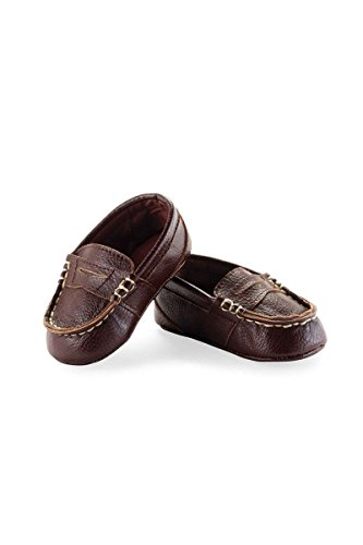 Mud Pie Baby-Boys Newborn Leather Pre Walker Loafers, - Mud Pie Shoes
