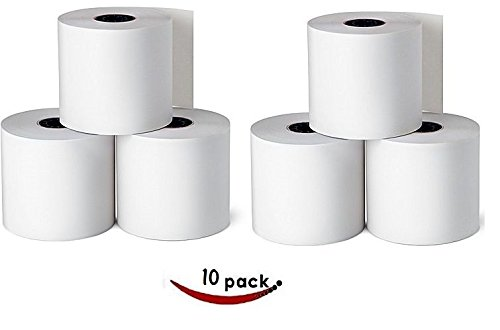 (1InTheOffice Cash Register and Point of Service Printer Paper 3 Inch X 128 Foot, 10 Rolls)