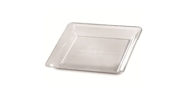 Amazon.com | 25 Clear Plastic Trays Disposable platters 12