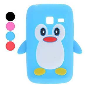TOPAA ships in 48 hours 3D Design Penguin Pattern Soft Case for Samsung Galaxy Y Duos S6102 (Assorted Colors) , Rose