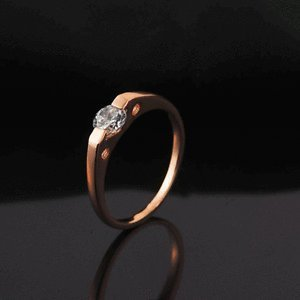 Amazon In Buy Fashion Rose Gold Plated Verlobungsring Kristal Rings