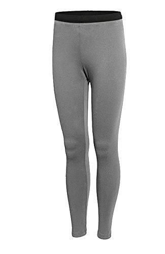 Bmeigo Mujer Sportwear Leggings Yoga Stretch Long Tights Pantalones de correr Grey