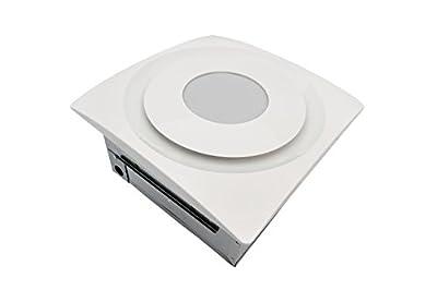 Aero Pure AP 90H-SL G6 W Slim Fit Bathroom Fan with 13W LED 2700K Light Pad and Humidity Sensor, TrueWhite Finish
