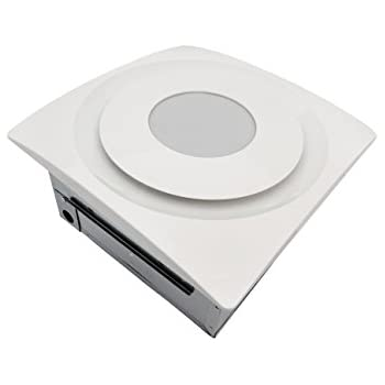 Aero Pure AP 90-SL G6 W Slim Fit Bathroom Fan with 13W LED 2700K Light Pad, TrueWhite Finish