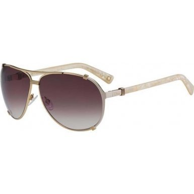 Christian Dior Chicago 2/S Sunglasses Rose Gold Cream Pink / Brown Violet Shaded