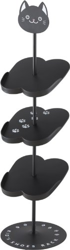 YAMAZAKI home Kitten Kids Shoe Rack, Black