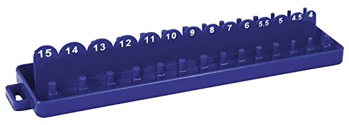 Shop-Tek / C-H ABS Plastic Socket Set Tray Organizer Case with Double Rows (METRIC), 1/4