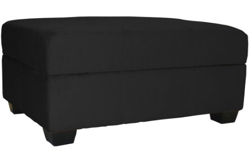 Epic Furnishings 36 by 24 by 18-Inch Storage Ottoman Bench, Ebony Black