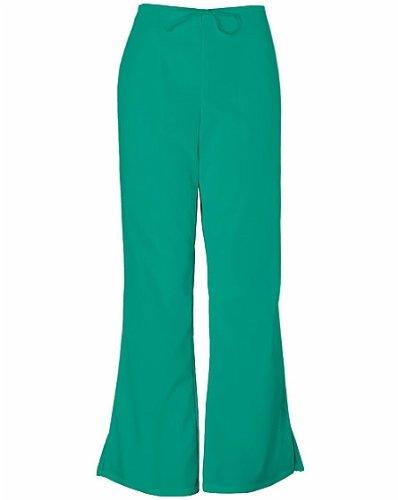 Cherokee Workwear Originals Women's Natural Rise Flare Leg Scrub Pants XX-Small Petite Surgical Green