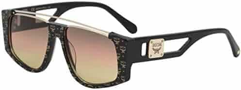 727f42abef MCM Women s MCM670S MCM 670 S 006 Black Visetos Fashion Square Sunglasses  55mm