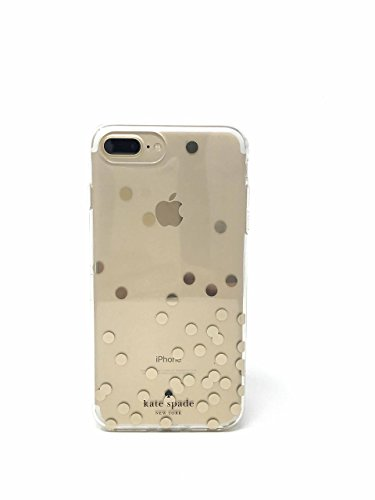 Kate Spade New York Protective Case for iPhone 7 Plus & iPhone 6 Plus - Clear/Confetti Dot Gold Foil