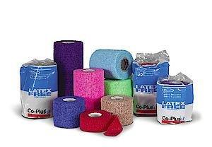BSN selbsthaftende Bandage Haftbandage, co-plus, Haftbandage dunkelblau, 10 cm x 6,3 m gedehnt – 1 x 18, 72102–23