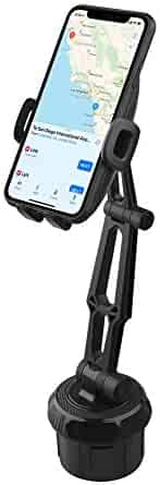 Fugetek Universal Hands-Free Car Cup Holder Cell Phone Mount, Adjustable, 360 ° Rotatable, Cradle, iPhone XR/XS Max, XS/X, 8/8P, 7/7P, Galaxy S10,S9,S8, HTC, Google, Black