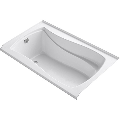 Tile Flange - KOHLER K-1242-L-0 Mariposa 5-Foot Bath with Integral Tile Flange, Left-Hand Drain, White