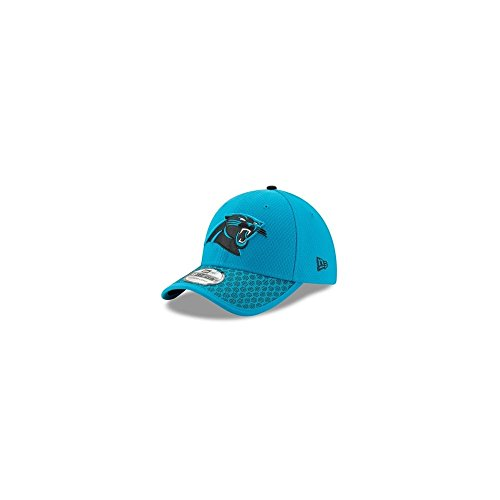 New Era 2017 NFL Sideline Carolina Panthers Flex Fit Cap Turquoise/Black (S/M) Carolina Panthers Fitted Hat