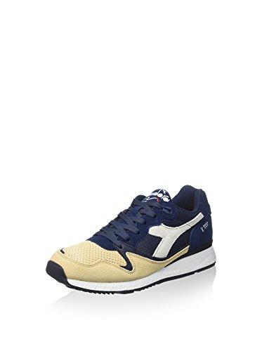 Chaussures Baskets Homme Diadora Code Bleu Et Beige 501.161998 01 V7000 Premium Blu Bleu Marine / Beige