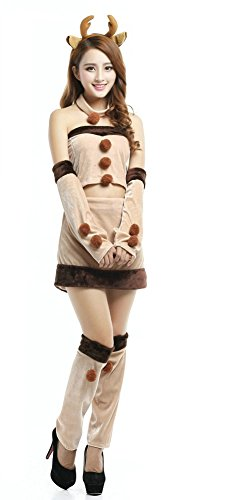 Reindeer Costume Dance (OVOV Reindeer Fancy Dress Costume Christmas Women Sexy Outfit Cosplay unisex-adult 45)