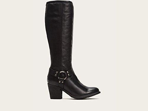 Frye Botas de altura arnés de cableado de Tabitha para las mujeres Black Soft Vintage Leather
