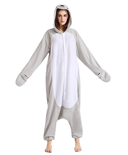 Seal Costume (Newcosplay Grey Seal Unisex Adult Onesies Pajamas Cosplay Halloween Anime Costumes (S-for Height 59