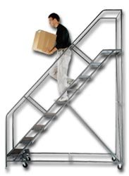- Ballymore/Garlin Enterprises, Stairway Slope Ladder, Hhds-10-R, Top Step Height: 100