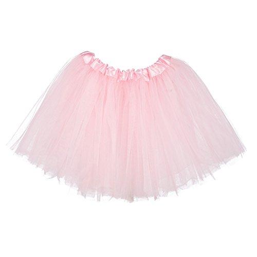 My Lello Little Girls Tutu 3-Layer Ballerina Light Pink (10 mo - 3T)