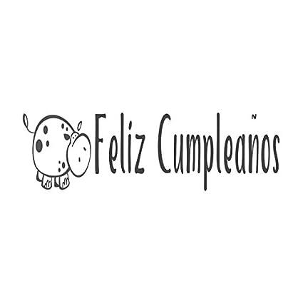 Feliz cumpleaños con hipopótamo imagen Sello Manual, diseño ...