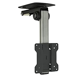 Mount-It! MI-4211 TV Ceiling Mount Kitchen Under Cabinet TV Bracket Folding, Retractable, 90 Degree Tilt, Fold Down, Swivel for 13 to 27 inch LCD, TV, LED, Monitor, Flat Screens up to VESA 100x100