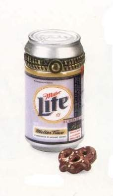 Miller Light Miniature Porcelain Can PHB Porcelain Hinged Box ()