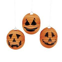 Fun Express Halloween Jack O' Lantern Pumpkin Paper Lanterns - 12 - Jack O-lantern 12