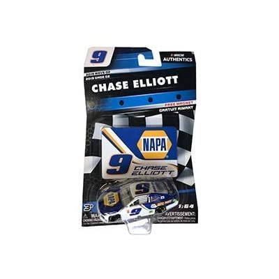 NASCAR 2020 Authentics Chase Elliott #9 NAPA Camaro 1/64 Scale Diecast with Bonus Magnet Collector Card: Toys & Games