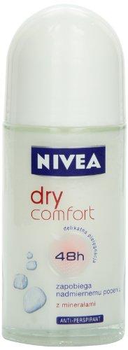 Nivea Dry Comfort Deodorant Roll-On, 1.7 Fluid Ounce (Pack of 2)