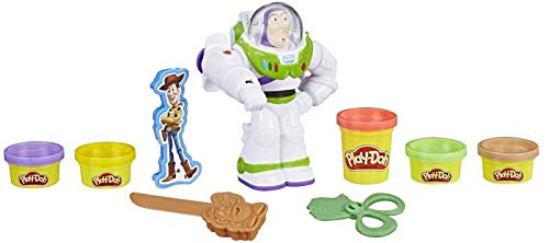 Holland Plastics Buzz Lightyear, Includes 5 x Tubs, Buzz Figure and Assorted Tools - World Famous Play Doh! What Will You Create? ...