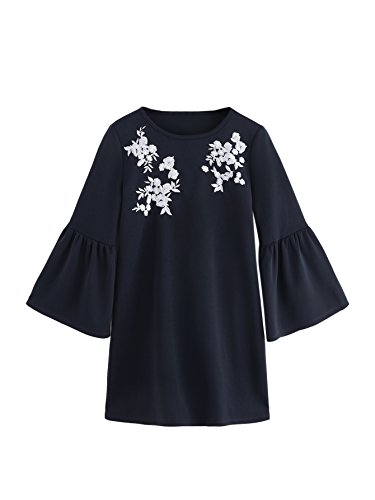 floral embroidery dress - 6