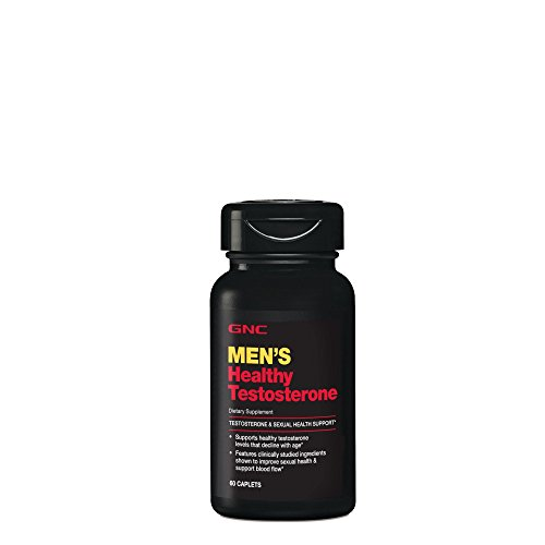 GNC Mens Healthy Testosterone, 60 Caplets, Testosterone and Sexual Health Support (Best Testosterone Supplements For Men Over 40)