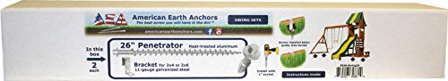 Penetrator Swing Set Anchor Kit for Wooden Swing Sets