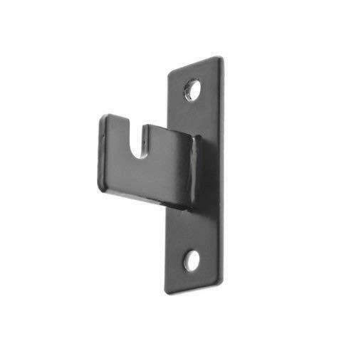 Gridwall Mount Brackets, 1'' W Thin Space Saving Grid Hangers, Protrudes 1'' from Wall, Black, 20 Pack by Store Fixtures Direct (Image #3)