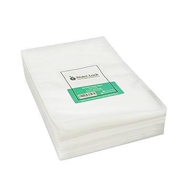 Nutri-Lock Vacuum Sealer Bags. 200 Quart Bags 8x12 Inch. Commercial Grade Food Sealer Bags for FoodSaver, Sous Vide