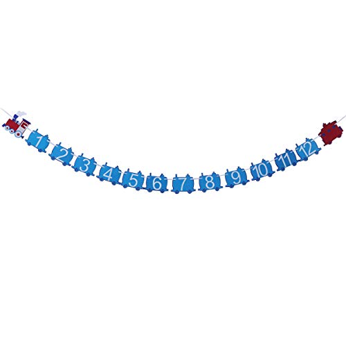 Train Party Banner Kid Birthday Banner Beautiful Funny Banner Party Bunting Banner Baby Shower ()